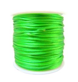 Satijnkoord Neon Groen 1mm dik