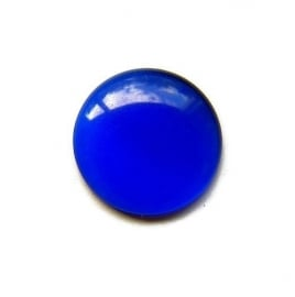 Cat Eye Cabochon Donker Blauw 18mm Rond