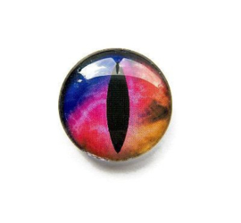 Dragon Eye 007, 25mm Glas Cabochon Rond