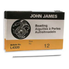 John James beading needles maat 12#