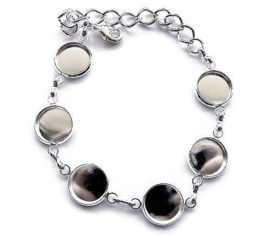 Basis armband met 6x setting voor 12mm cabochon