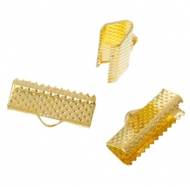 Lintklemmetje Gold Plated 16x8mm