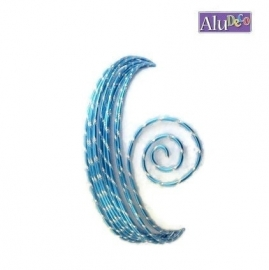 AluDeco Wire 2mm Turquoise Blauw Diamond Cut (5m)