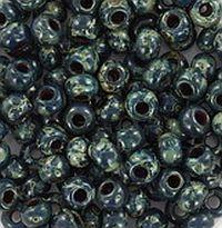 06-4516 Miyuki Opaque Picasso Dark Teal 6/0