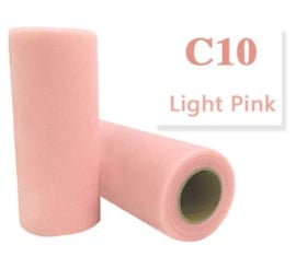 Tule Light Pink 15cm breed  rol 22 meter C10