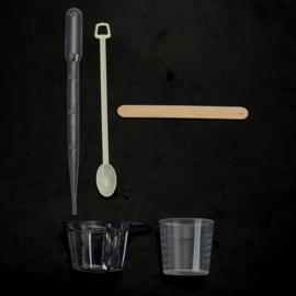 Resin disposable meng set lepeltjes