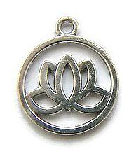 Bedel Lotusbloem in ring  Zilverkleur