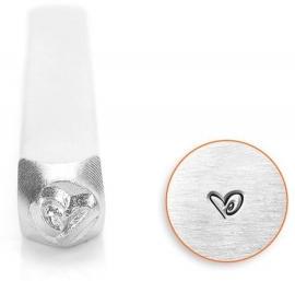 Design stempel Boogie Heart 3mm ImpressArt