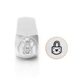 Design Stempel Padlock Heart 6mm ImpressArt