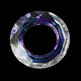 Donuthanger van facet geslepen kristal glas AB Groot