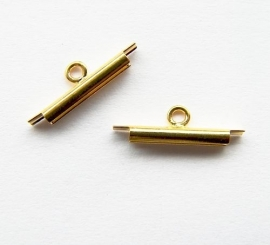 Miyuki Slide End Tubes Gold 15mm (set 2st)
