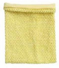 Gehaakte Top GEVOERD Yellow M+  (maat 116 t/m 134)