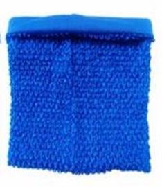 Gehaakte Top GEVOERD Royal Blue M+  (maat 116 t/m 134)