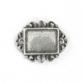 Artisian Rectangle Green Girl Pewter