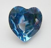 Rhinestone hart  Jeans Blauw 27mm