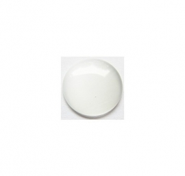 Cat Eye Cabochon Wit 12mm Rond