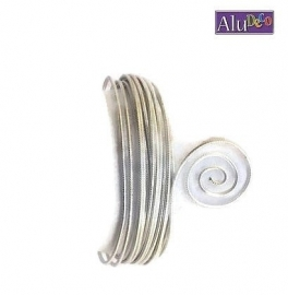 AluDeco Wire 2mm Zilver Embossed (5m)