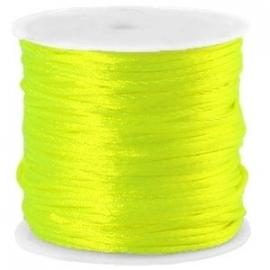 Satijnkoord Neon Geel 1mm dik