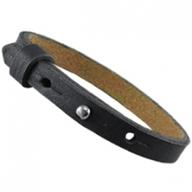 Cuoio Armband Leer 8mm Zwart