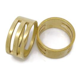 Jump ring opener messingkleur