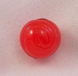 Lampwork Kraal Rose Red 13mm