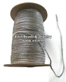 Soutache Koord Rayon Smooth Metallic Silver 2,3mm