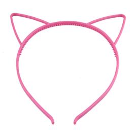 Haarbeugel Kattenoortjes Donker Roze