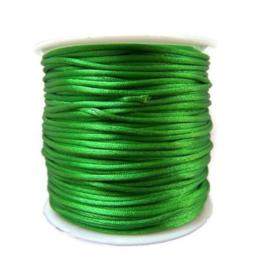 Satijn koord Groen 2mm dik