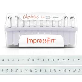 Uppercase Charlotte Letter Set 3mm ImpressArt