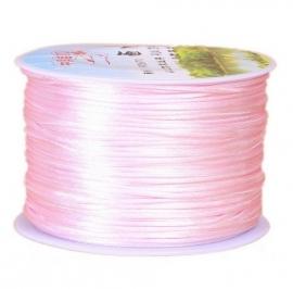 Satijnkoord Roze 1mm dik