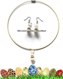 Handgemaakte sieraden set, Easter Bunny's