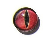 Dragon Eye 001, 16mm Glas Cabochon Rond