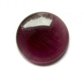 Cat Eye Cabochon Paars 18mm Rond