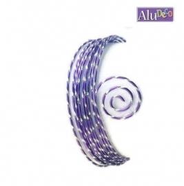 AluDeco Wire 2mm Lilac Diamond Cut (5m)