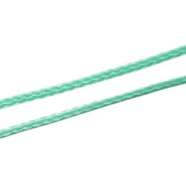 Koreaans Polyester Waxkoord Turquoise Groen 1mm