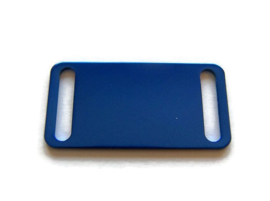 Connector Slider Tag Blue aluminium