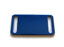 Connector Slider Tag Blue aluminium
