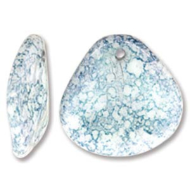 Czech Rose Petals White Teracota Blue 14x13mm (streng 50st.)