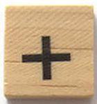 Houten Scrabble Symbool +