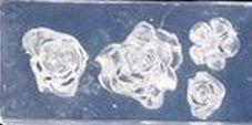 Mini Mal met 4 diepe roosjes Transparant