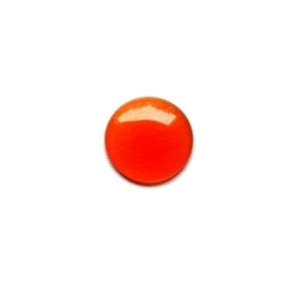 Cat Eye Cabochon Oranje/Rood 12mm Rond