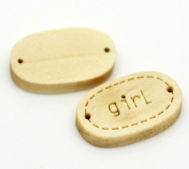 Houten Label / Connector Girl