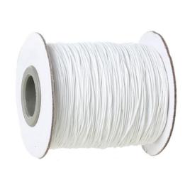 VOORDEELVERPAKKING Koreaans Polyester wax koord rond 1mm WIT