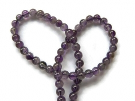 Natural Amethyst rond 8mm per streng