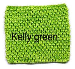 Gehaakte Top Kelly Green  S  (maat 50 t/m 80)