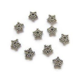 Spacer metal Starflower 8.5mm (10st.)
