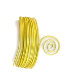 AluDeco Wire 2mm Sunny Yellow Embossed (5m)