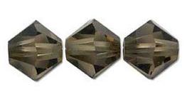 Swarovski kralen Bicone 4mm Smoke Quartz (10st.)