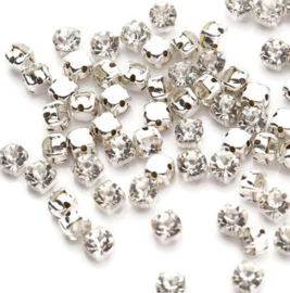 Mesh strass Crystal SS12 3mm Silver Plated (10st.)