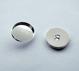 Cabochon knoop setting met oogje voor 16mm cabochon